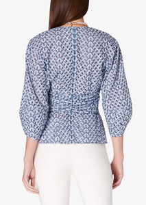 Blue Noe Blouse - Womens Top by Derek Lam