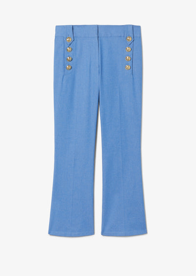 Blue Robertson Crop Flare Trouser - Womens Pant by Derek Lam