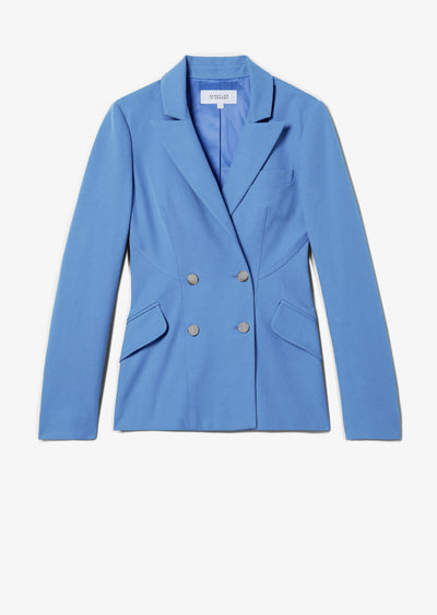 Blue Rodeo Double Breasted Blazer - Womens Jacket by Derek Lam