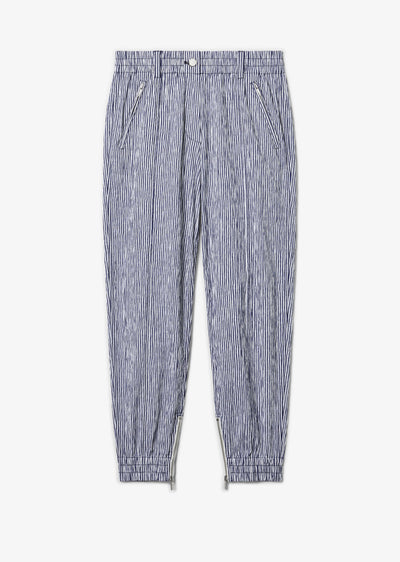 Blue and White Kina Utility Jogging Pant - Womens Pant by Derek Lam