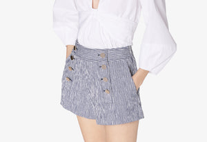 Blue and White Robertson Sailor Short - Womens Shorts by Derek Lam
