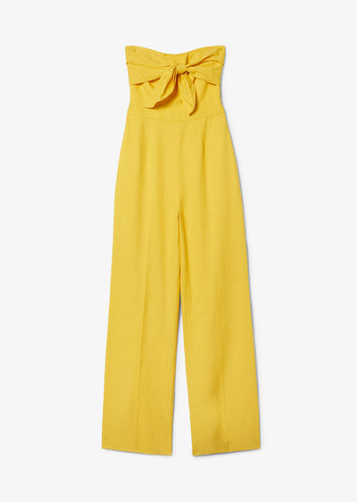 Citrus Yellow Alene Tie Front Jumpsuit - Womens Jumpsuit by Derek Lam