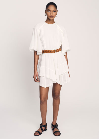 Cream Layne Ruffle Hem Dress - Womens Dress by Derek Lam