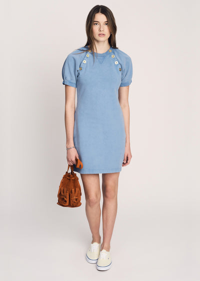 Deep-Blue Karli Short Sleeve Dress - Womens Dress by Derek Lam