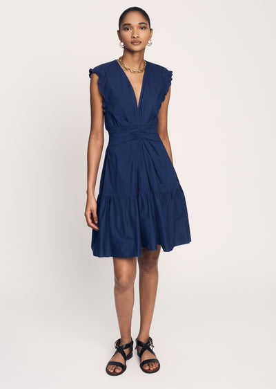 Deep-Blue Saachi Sleeveless Dress - Women's Dress by Derek Lam