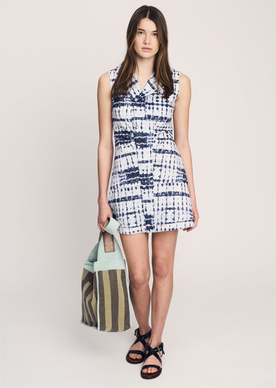 Denim Blue Satina Shirt Dress - Womens Dress by Derek Lam