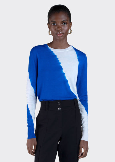 Electric Blue Esta Sweater - Women's Sweater by Derek Lam