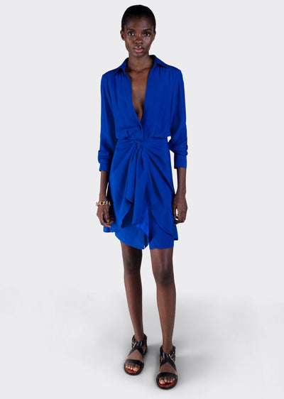 Electric Blue Harper Shirt Dress - Womens Dress by Derek Lam