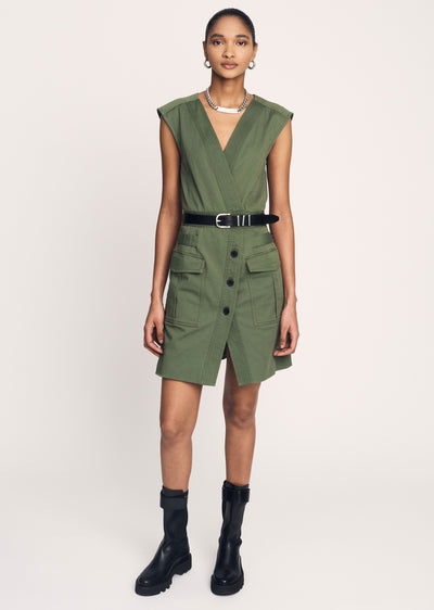 Fatigue Elena Sleeveless Utility Dress - Womens Dress by Derek Lam