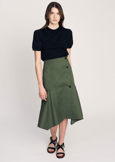 Fatigue Nadia Full Skirt with Buttons - Women's Skirt by Derek Lam