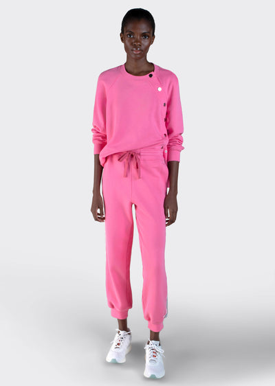 Flush Pink Sera Jogger With Track Stripe - Womens Pants by Derek Lam