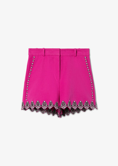 Fuchsia Lilo Embroidered Short - Womens Shorts by Derek Lam