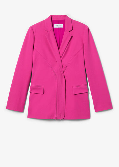 Fuchsia Loa Convertible Blazer - Womens Jacket by Derek Lam