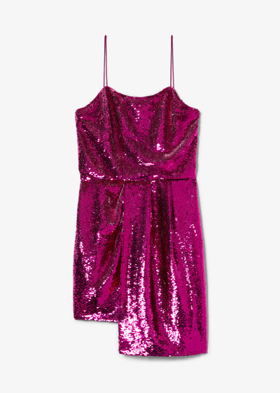 Fuchsia and Silver Lani Reversible Sequin Cami Dress - Womens Dress by Derek Lam