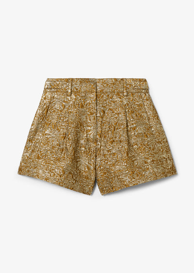 Gold Mari A-Line Short - Womens Shorts by Derek Lam