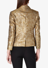 Load image into Gallery viewer, Gold Myla Double Breasted Crop Blazer - Womens Jacket by Derek Lam
