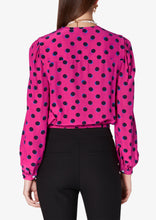 Load image into Gallery viewer, Hot Pink Olina Cropped Blouse - Womens Top by Derek Lam