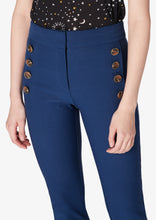 Load image into Gallery viewer, Indigo Adeline Cropped Flare With Buttons - Womens Pants by Derek Lam