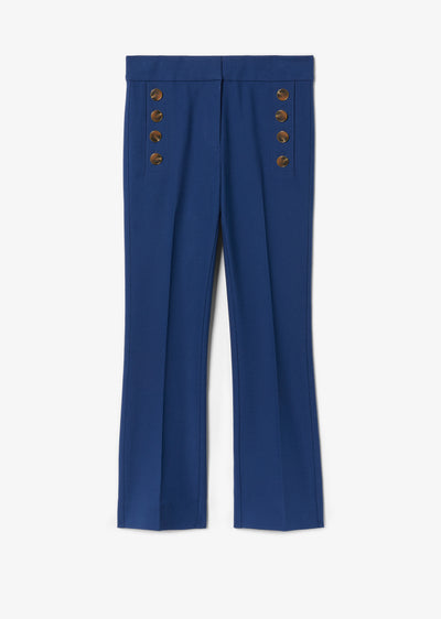 Adeline Cropped Flare With Buttons by Derek Lam 10 Crosby