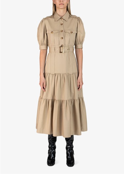 Khaki Buffy Utility Maxi Dress - Womens Dress by Derek Lam