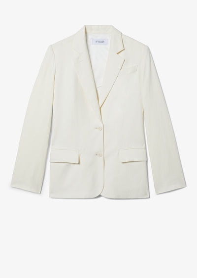 Maize Isa Knit Back Blazer - Womens Jacket by Derek Lam