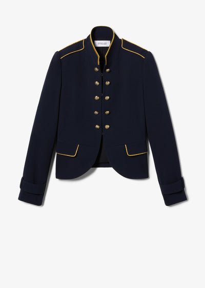 Midnight Brigitte Band Jacket - Womens Jacket by Derek Lam