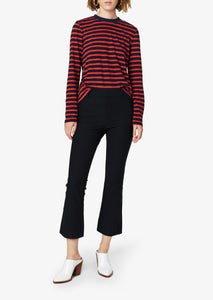 Midnight Crosby Crop Flare Trouser - Womens Pants by Derek Lam