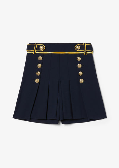 Midnight Laetitia Pleated Short - Womens Shorts by Derek Lam