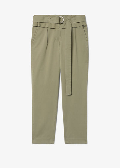 Military Malia Hi-Waist Paper Bag Trouser - Womens Pant by Derek Lam