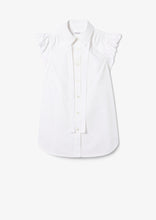 Load image into Gallery viewer, Optic White Calvet Top - Womens Top by Derek Lam