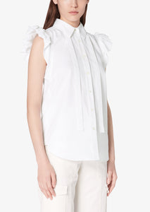 Optic White Calvet Top - Womens Top by Derek Lam