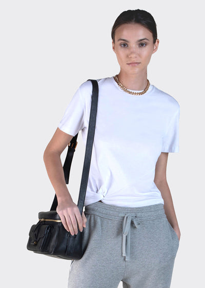 Optic White Cody Twist Waist Tee - Women's Tee by Derek Lam