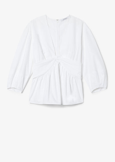 Optic White Noe Blouse - Womens Top by Derek Lam