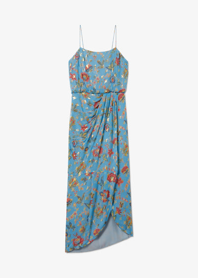 Pale Blue Lexi Sarong Dress - Womens Dress by Derek Lam