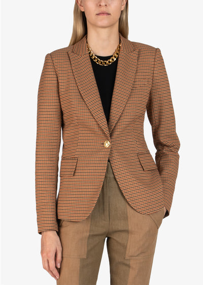 Rust Multi Allie Single Button Blazer - Women's Jacket by Derek Lam
