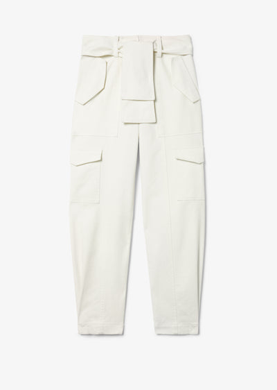 Soft White Elian Utility Pant - Womens Pants by Derek Lam