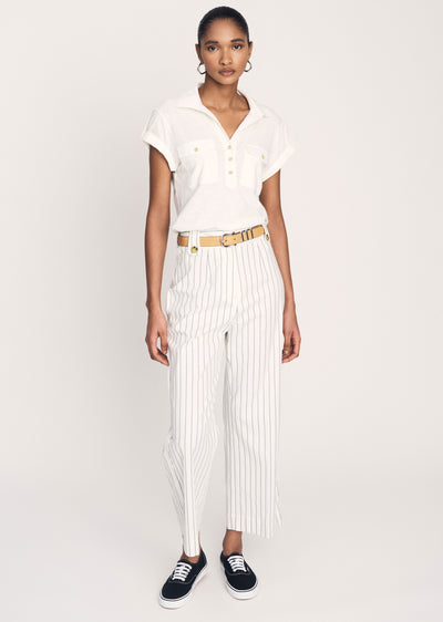 Soft-White Jerry High Waist Trouser - Womens Trouser by Derek Lam