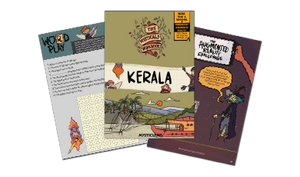 Set of 6 Workbooks (Delhi, Kerala, London,  Paris, Singapore & UAE) [Printed Worksheets]
