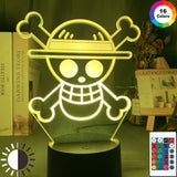One Piece Straw Hats Light Led