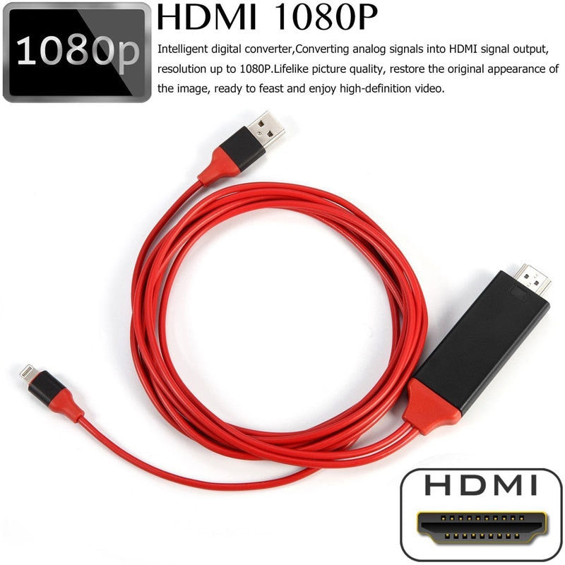 Lightning To HDMI  Plug & Play Cable