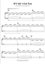 Load image into Gallery viewer, If I Ain't Got You - Alicia Keys,Piano/Voice/Guitar Sheet Music | Axtell Music