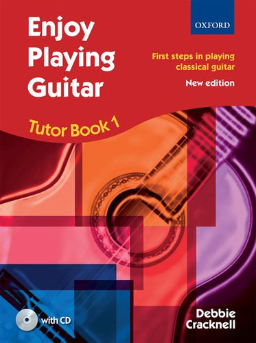 Cover art for Enjoy Playing Guitar Tutor Book 1 + CD - Debbie Cracknell Paperback book