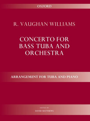Cover art for Concerto for bass tuba and orchestra - Ralph Vaughan Williams