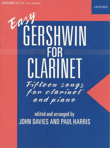 Cover art for Easy Gershwin for Clarinet - George Gershwin : Sheet Music
