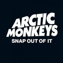 "Load image into Gallery viewer,  This is the cover art for the single ""Snap Out of It"" by the artist Arctic Monkeys. The cover art copyright is believed to belong to the label, Domino Recording Company, or the graphic artist(s).Snap Out Of It - Arctic Monkeys: Piano/Voice/Guitar Sheet Music"