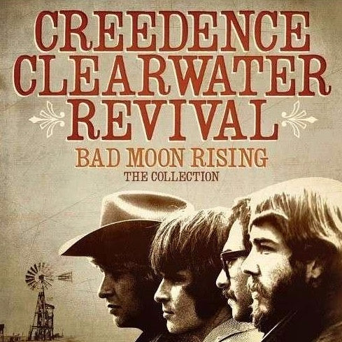 Cover artwork for Bad Moon Rising - Creedence Clearwater Revival (CCR) the collection. Download and print Bad Moon Rising by Creedence Clearwater Revival (CCR). Sheet Music for Piano, Guitar and Voice.