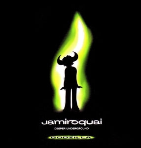 This is the cover art for the single Deeper Underground by the artist Jamiroquai. The cover art copyright is believed to belong to the label, Sony Soho Square, or the graphic artist(s).  Deeper Underground - Jamiroquai: Sheet Music | Axtell Music