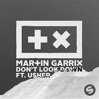 "Load image into Gallery viewer, This is the cover art for the single ""Don't Look Down"" by the artist Martin Garrix. The cover art copyright is believed to belong to the label, Spinnin' Records, or the graphic artist(s).  Don't Look Down - Martin Garrix feat. Usher: Piano/Voice/Guitar Sheet music"