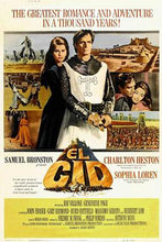Load image into Gallery viewer, This is a poster for El Cid. The poster art copyright is believed to belong to the distributor of the film, the publisher of the film or the graphic artist.       Love Theme from 'El Cid' Sheet Music for Piano/Voice/Guitar.
