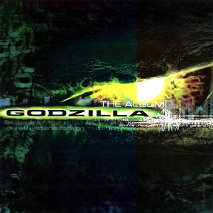This is the front cover for the album Godzilla: The Album by the artist Various artists. The cover art copyright is believed to belong to the label, Epic Records, or the graphic artist(s).